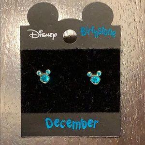 Disney Mickey Mouse December Birthstone Earrings